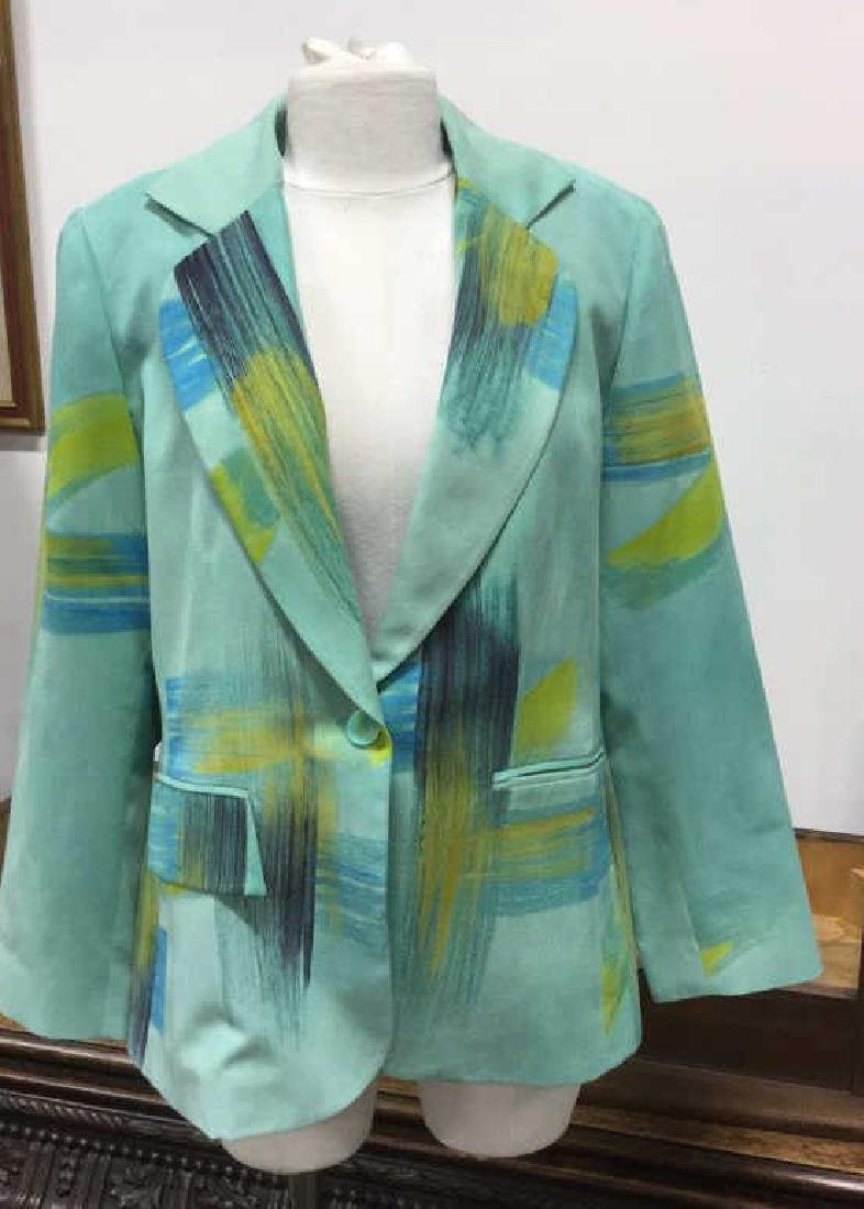 Size Medium Green Blue and Yellow Toned Jacket - 2