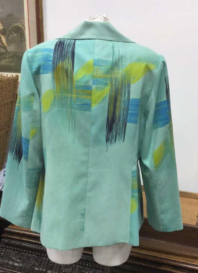 Size Medium Green Blue and Yellow Toned Jacket - 3