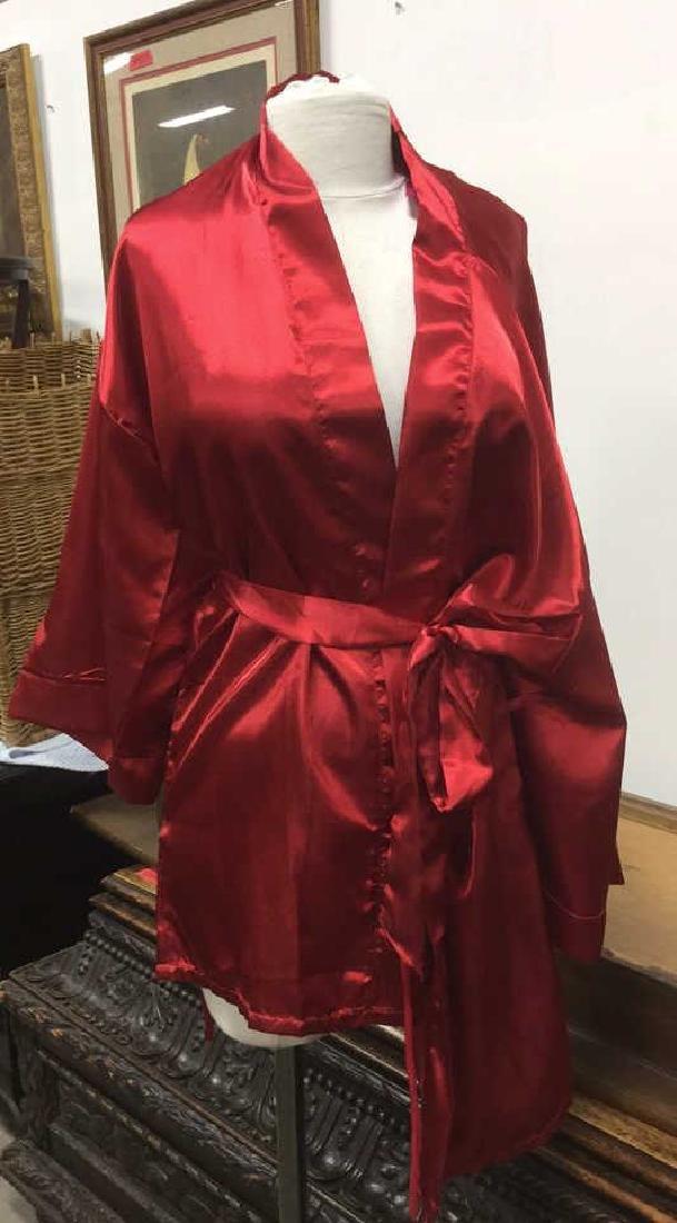 SEVEN 'TIL MIDNIGHT Red Toned Silk Robe