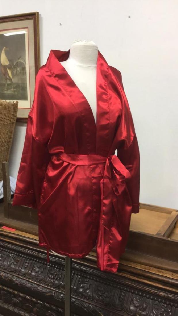 SEVEN 'TIL MIDNIGHT Red Toned Silk Robe - 2