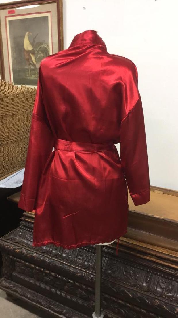SEVEN 'TIL MIDNIGHT Red Toned Silk Robe - 4