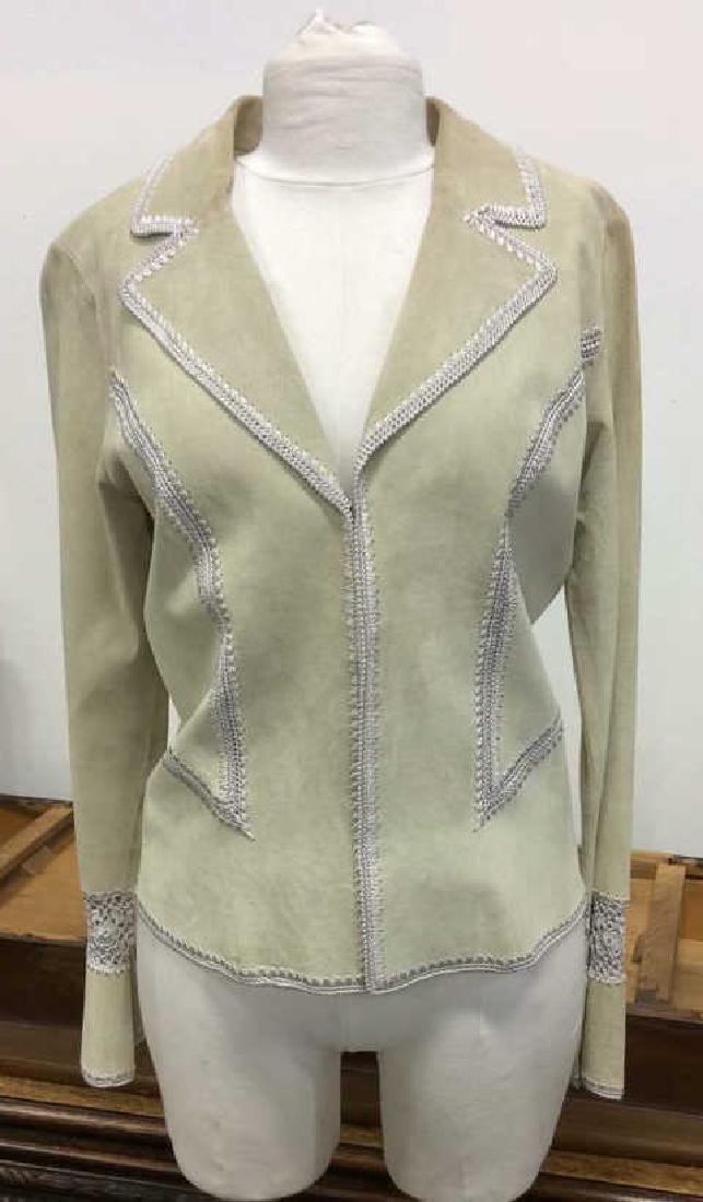 CACHÉ Women's Leather Jacket Medium