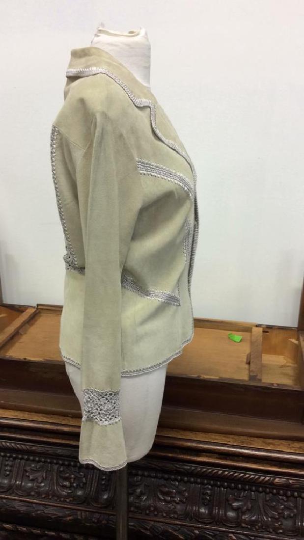 CACHÉ Women's Leather Jacket Medium - 3
