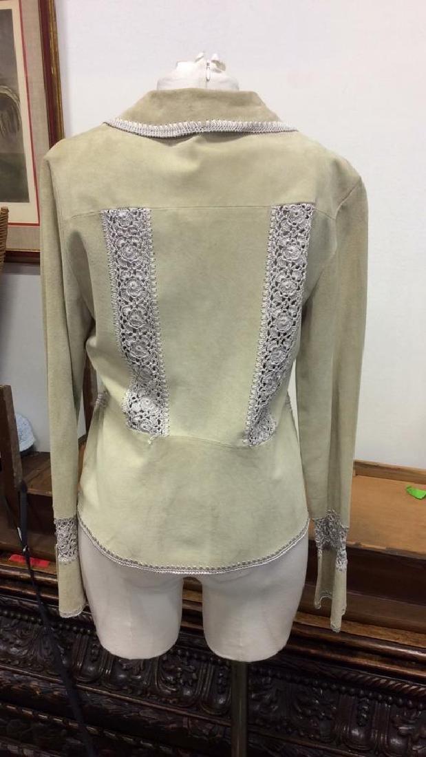 CACHÉ Women's Leather Jacket Medium - 4