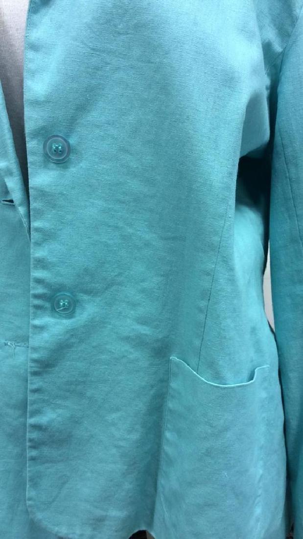 CHADWICKS Size 14 Teal Toned Blazer - 6