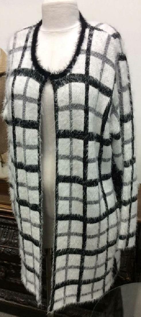 Nylon and Acrylic Full Length Plaid Sweater