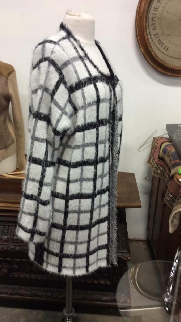 Nylon and Acrylic Full Length Plaid Sweater - 2