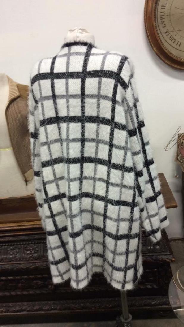 Nylon and Acrylic Full Length Plaid Sweater - 4