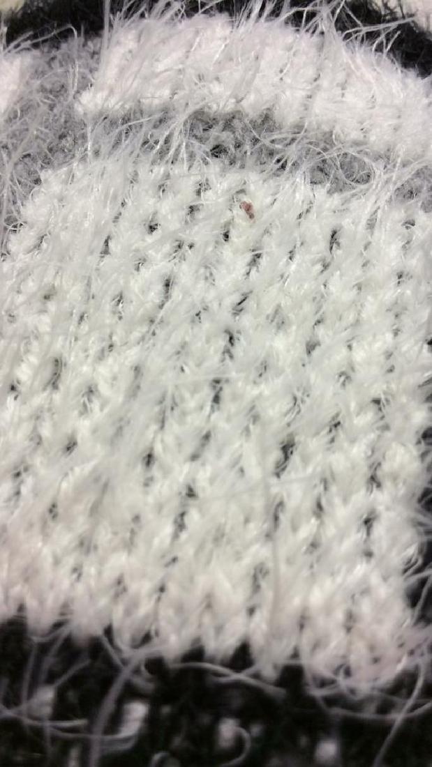 Nylon and Acrylic Full Length Plaid Sweater - 6