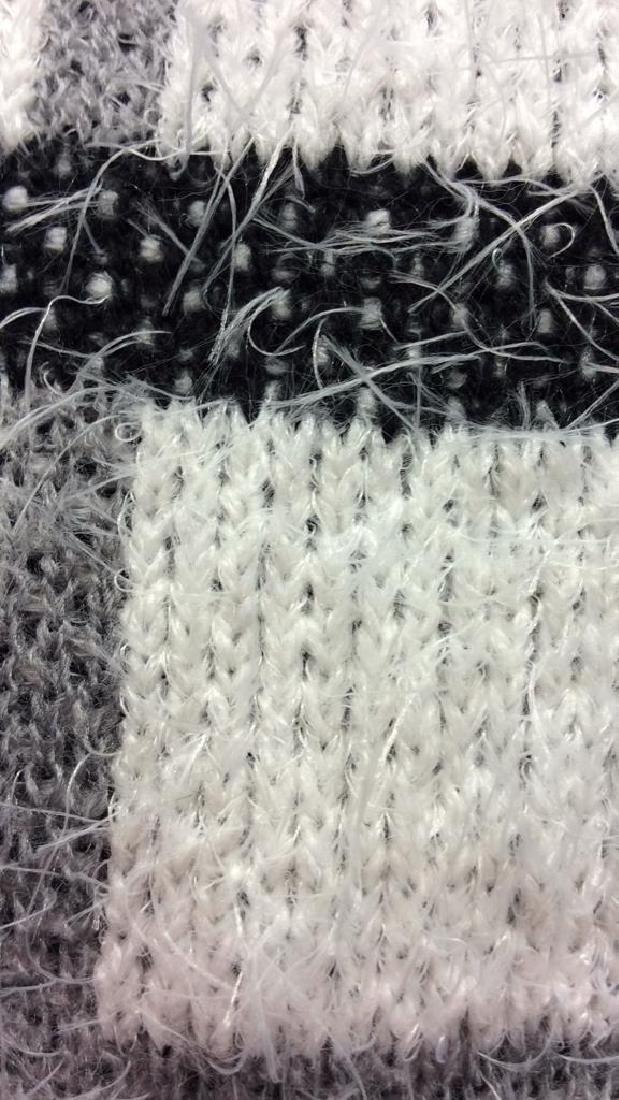 Nylon and Acrylic Full Length Plaid Sweater - 7