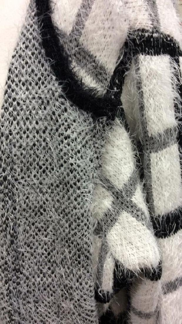 Nylon and Acrylic Full Length Plaid Sweater - 8