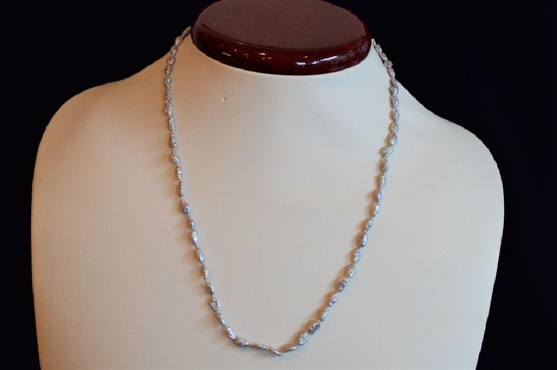 """Delicate 17"""" Soft  Lavender Seed Pearl Necklace"""