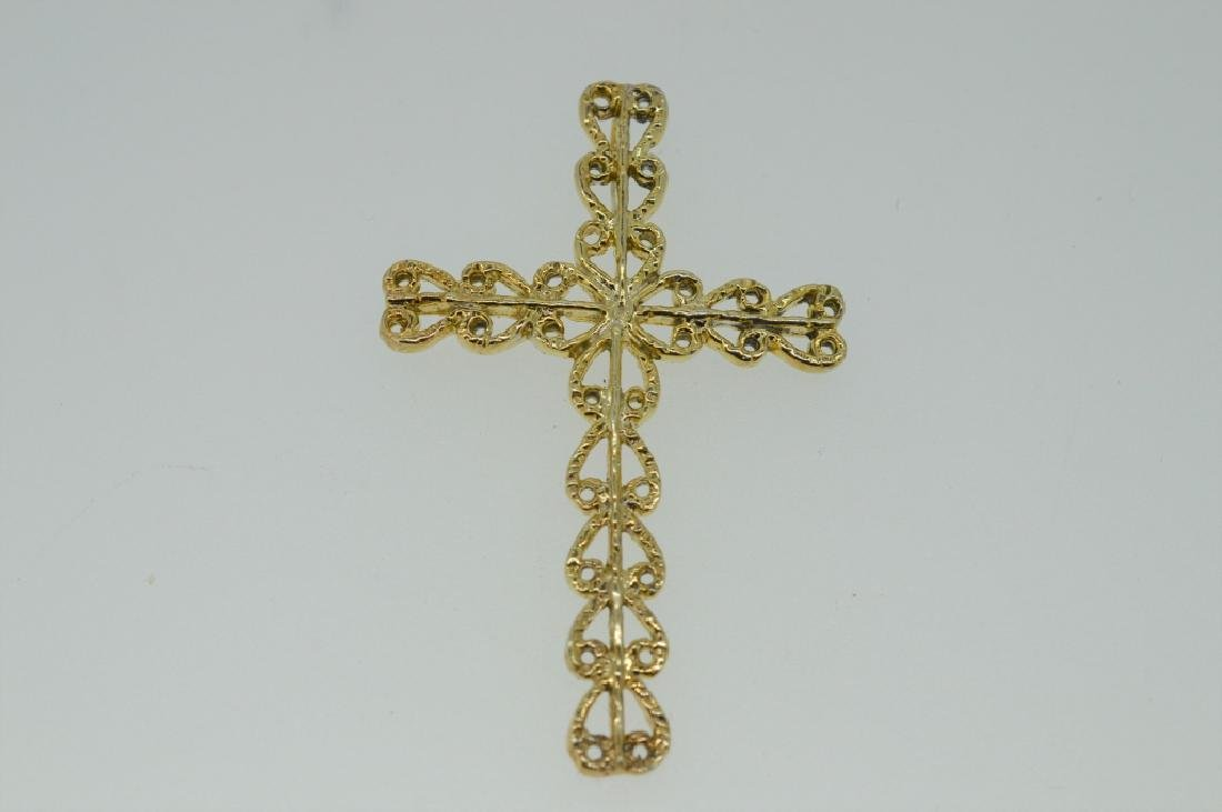Gold-tone Metal Cross Pendant