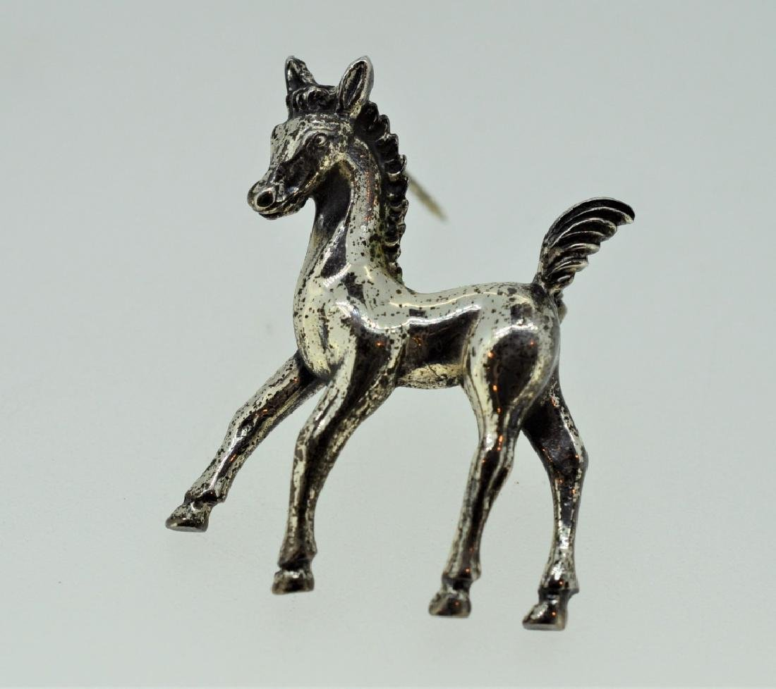 Sterling Silver Pony Pin