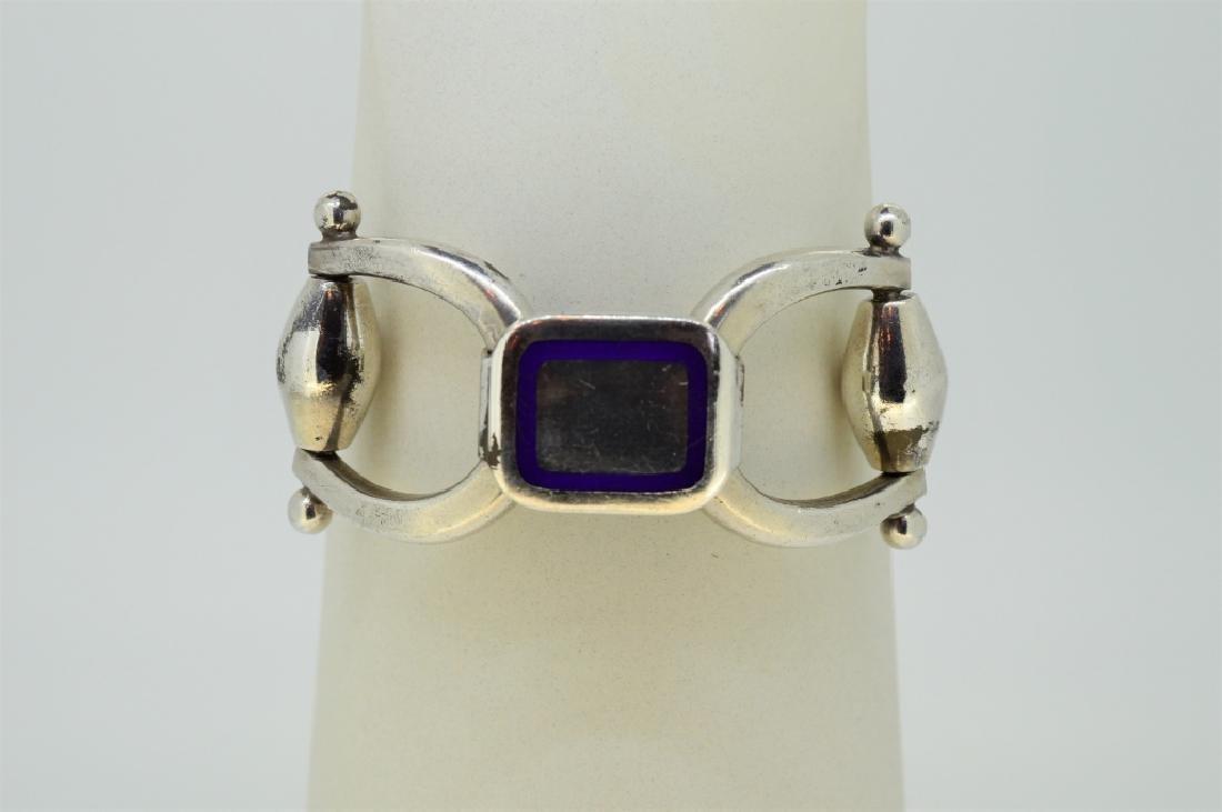 "7.5"" Strlng Silvr Equestrian Tack Inspird Bracelet"