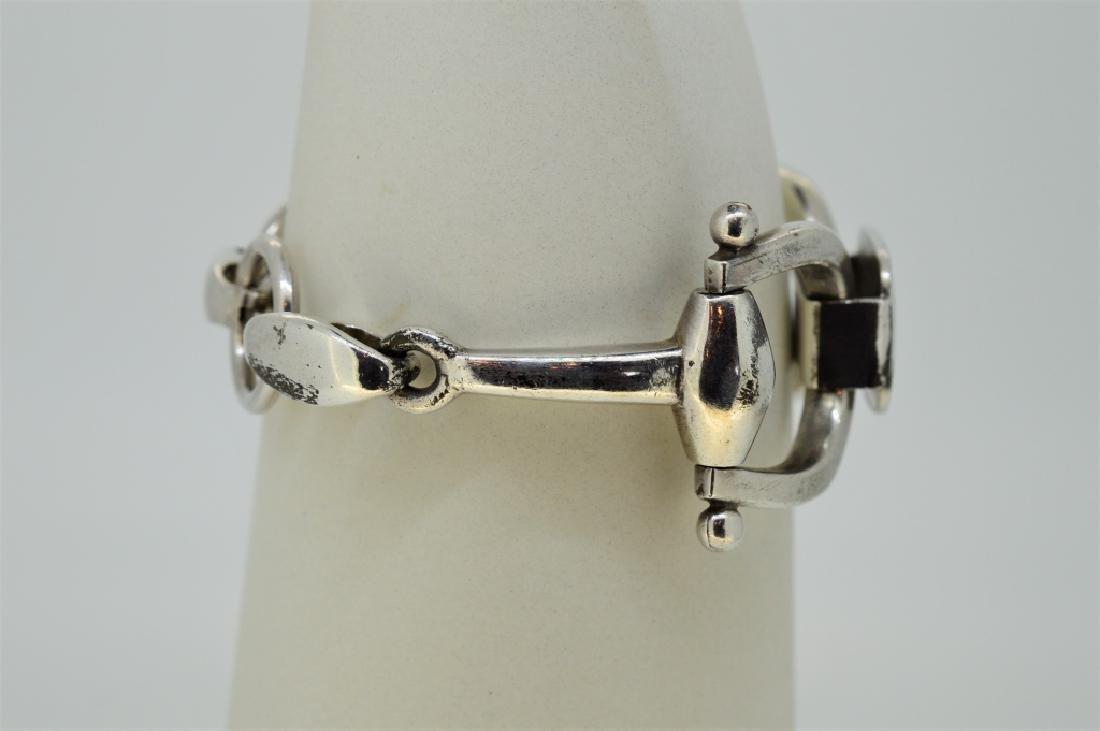 "7.5"" Strlng Silvr Equestrian Tack Inspird Bracelet - 2"