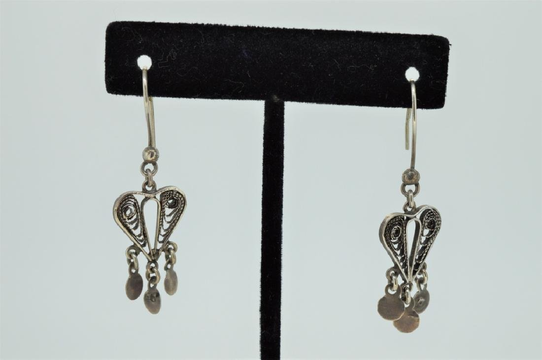 Sterling Silver Bohemian Drop Earrings