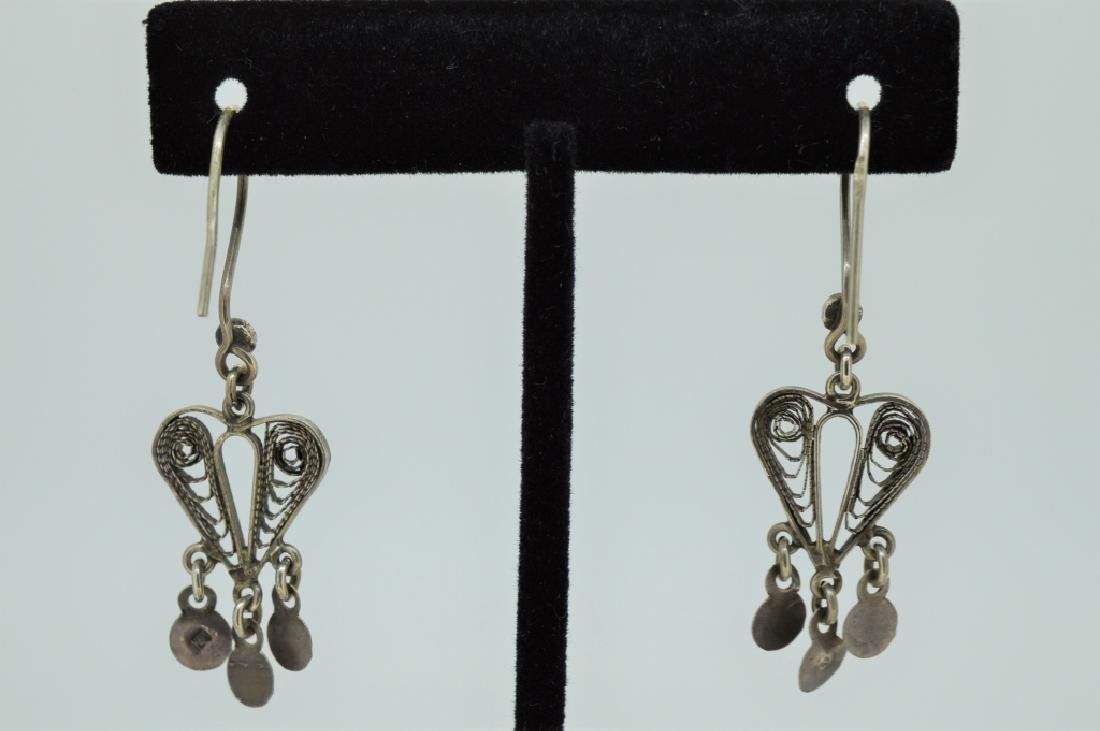 Sterling Silver Bohemian Drop Earrings - 2