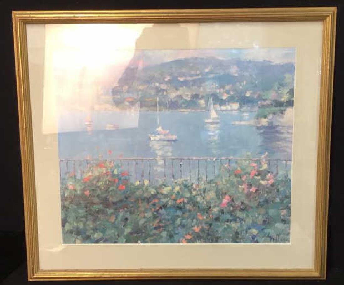 Framed Matted Bermuda Harbor Print, RITTER