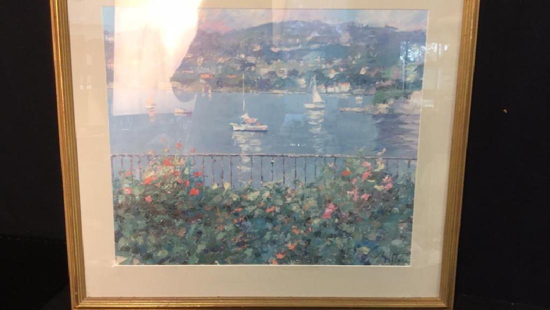 Framed Matted Bermuda Harbor Print, RITTER - 2
