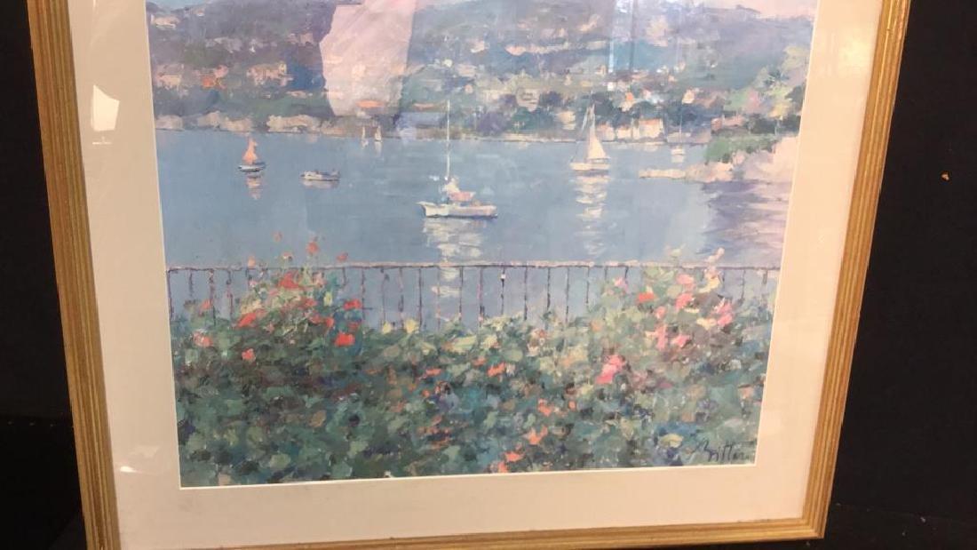 Framed Matted Bermuda Harbor Print, RITTER - 6