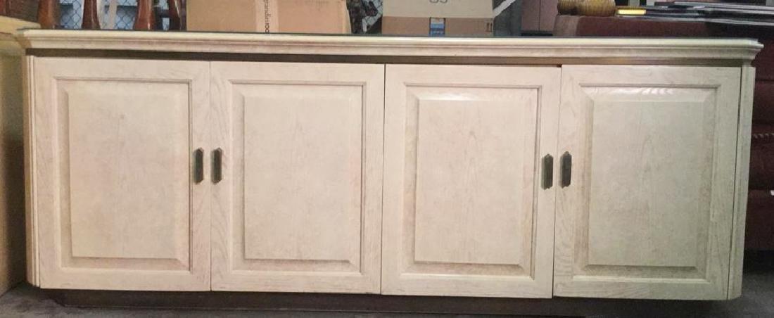 HENREDON Cream Toned Console Cabinet