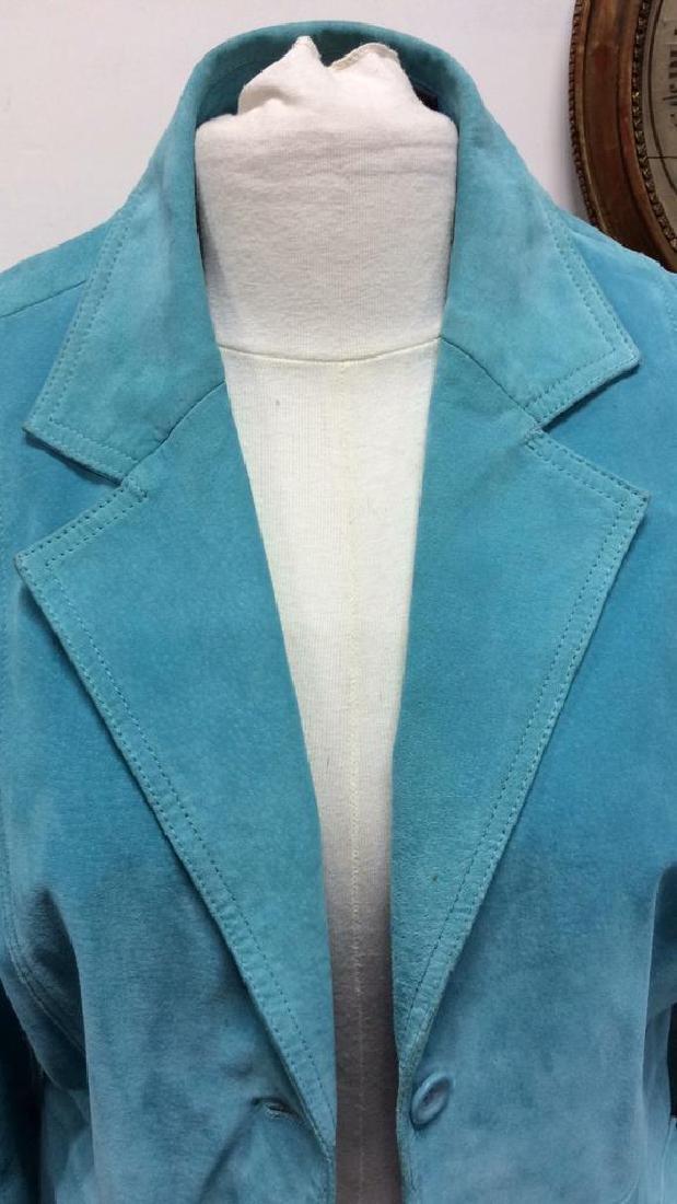 LIZ CLAIBORNE Blue Toned Suede Women's Blazer - 6
