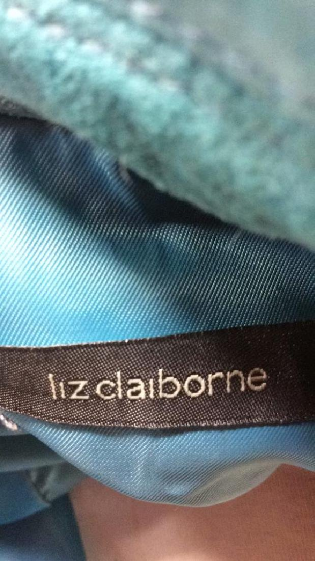 LIZ CLAIBORNE Blue Toned Suede Women's Blazer - 8