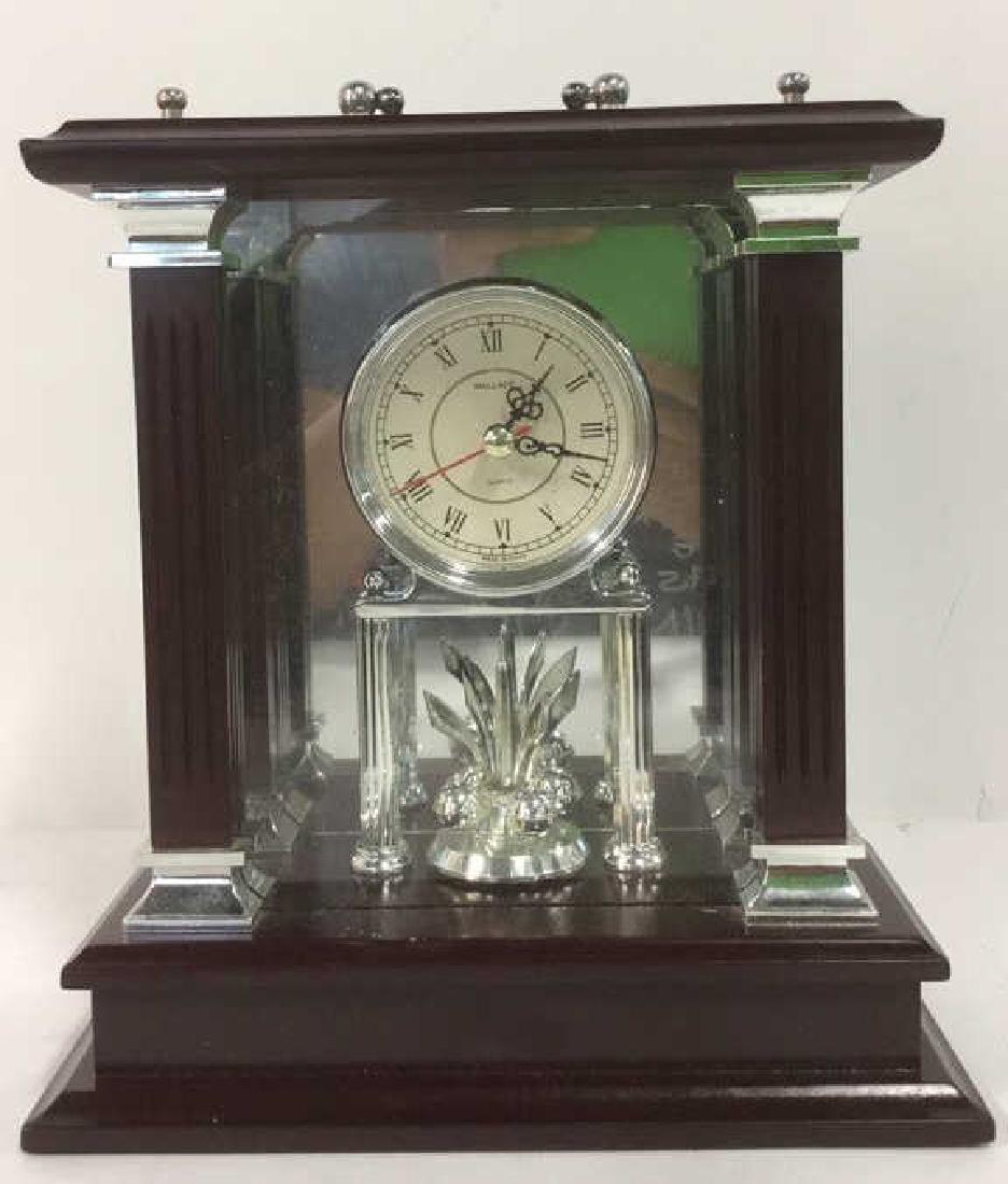 WALLACE SILVERSMITHS Wooden Desk Clock - 2