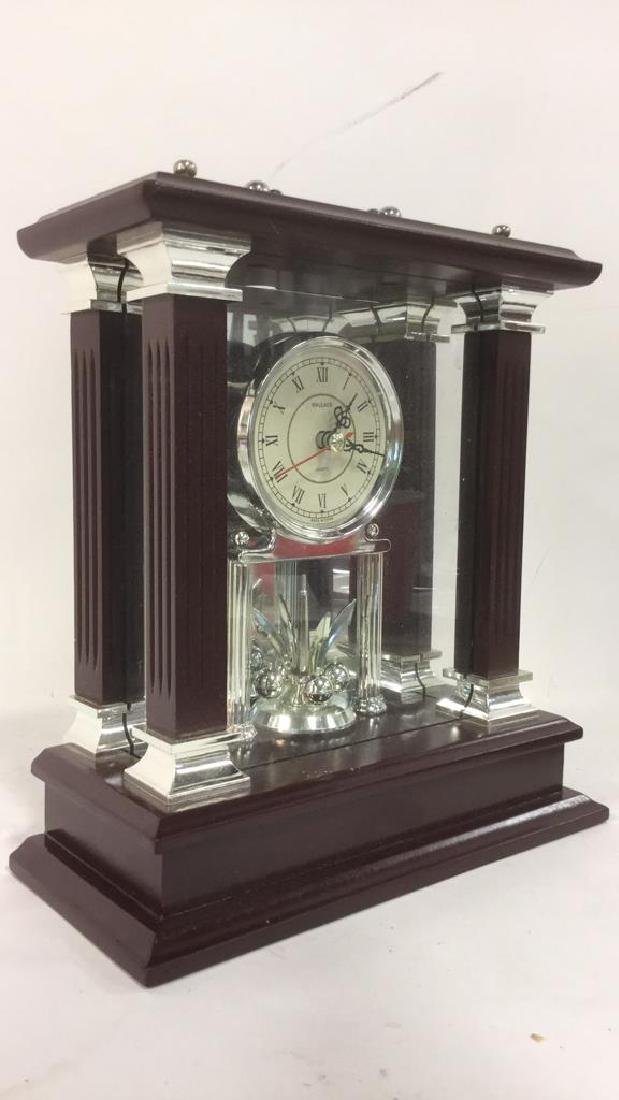 WALLACE SILVERSMITHS Wooden Desk Clock - 3