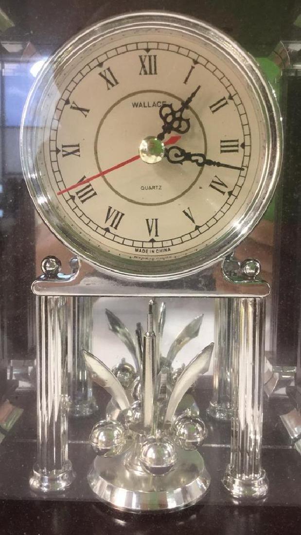 WALLACE SILVERSMITHS Wooden Desk Clock - 4