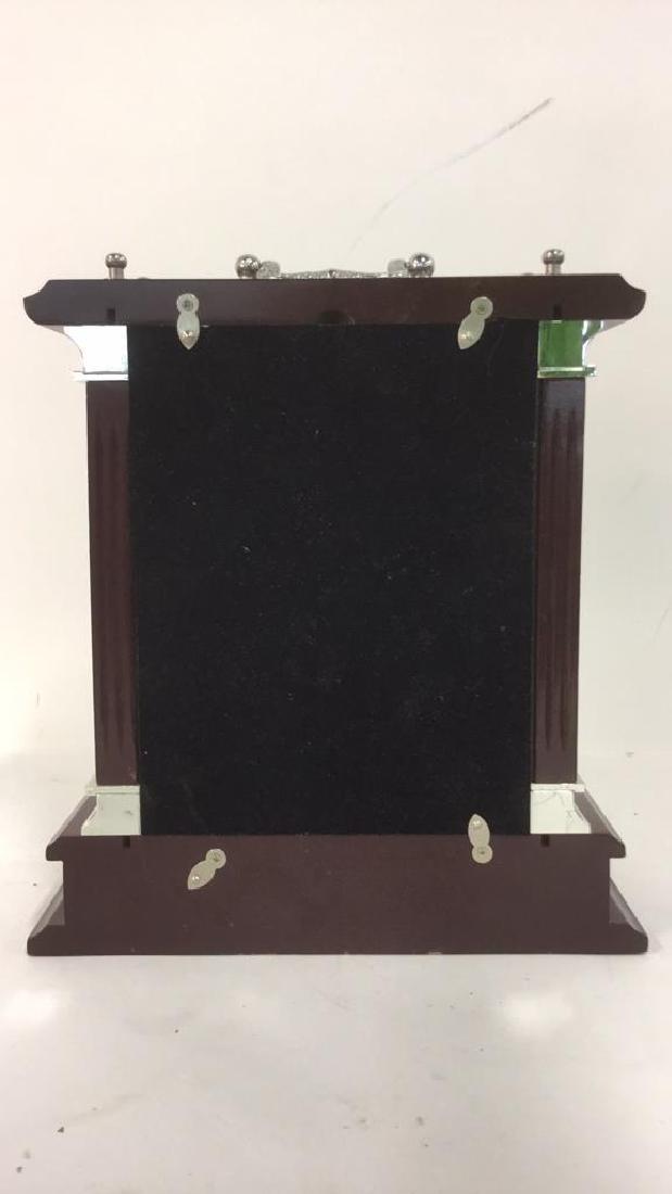 WALLACE SILVERSMITHS Wooden Desk Clock - 6