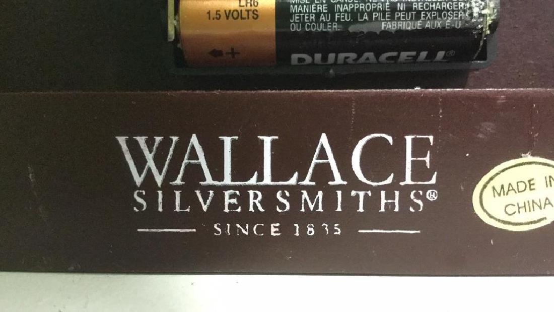 WALLACE SILVERSMITHS Wooden Desk Clock - 7