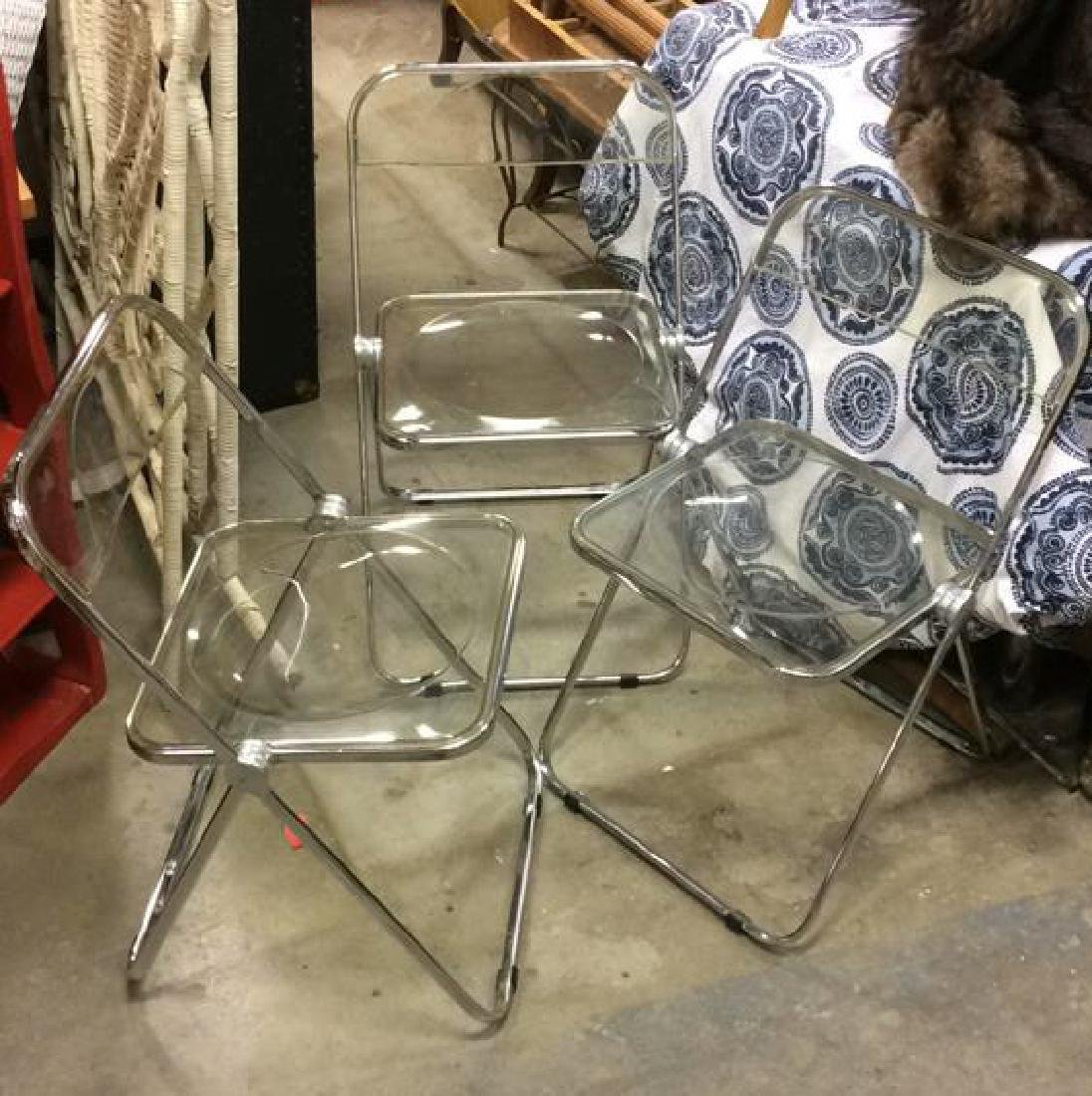 Lot 3 Anonima Castelli, Italy Folding Chairs