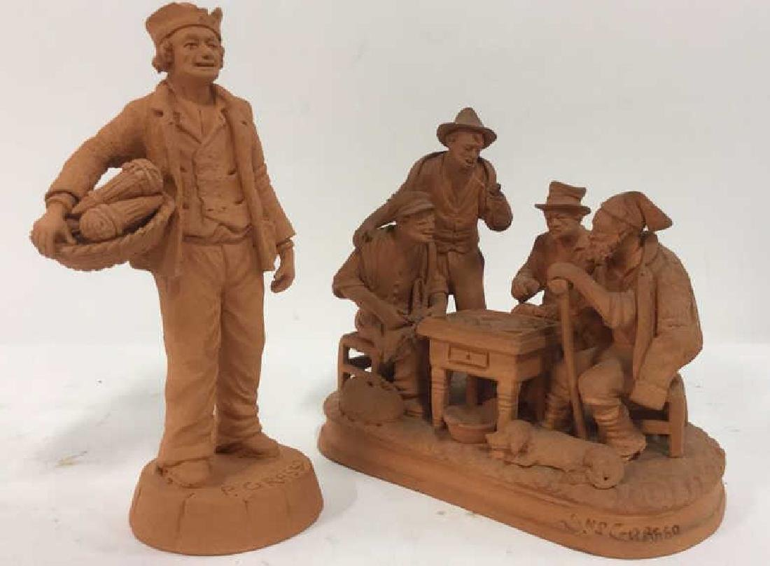 Lot 2 P GRASSO Clay Figures