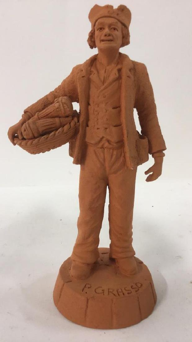 Lot 2 P GRASSO Clay Figures - 2