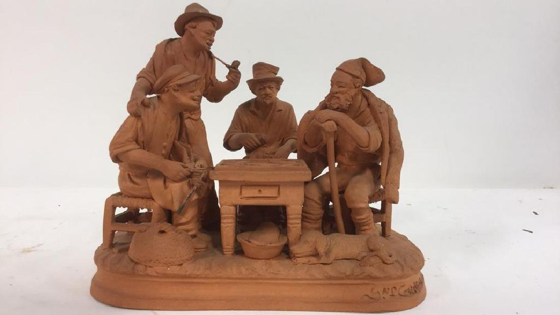 Lot 2 P GRASSO Clay Figures - 3