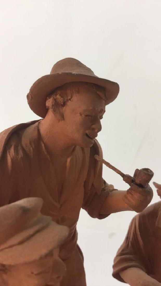 Lot 2 P GRASSO Clay Figures - 5