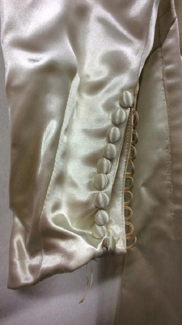 SAKS FIFTH AVENUE Vintage Satin Wedding Dress - 10