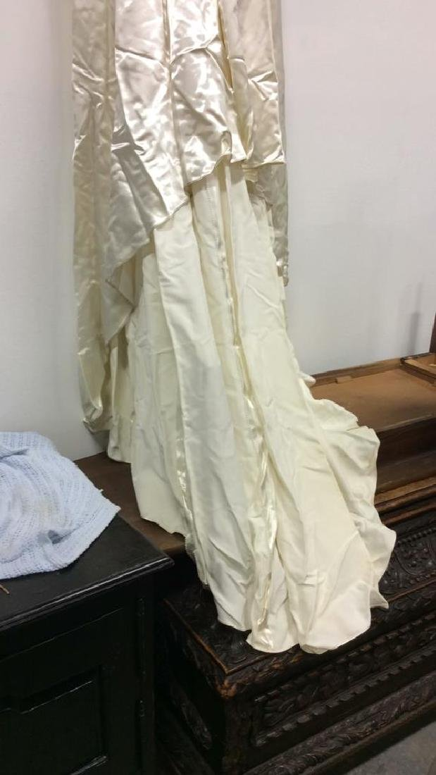 SAKS FIFTH AVENUE Vintage Satin Wedding Dress - 2