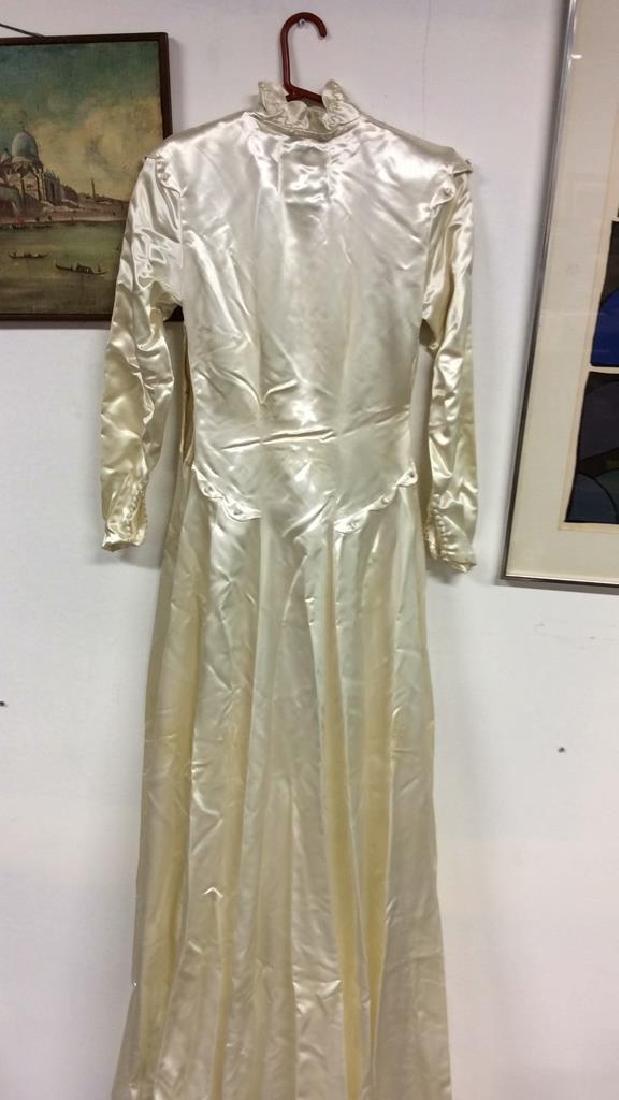 SAKS FIFTH AVENUE Vintage Satin Wedding Dress - 5