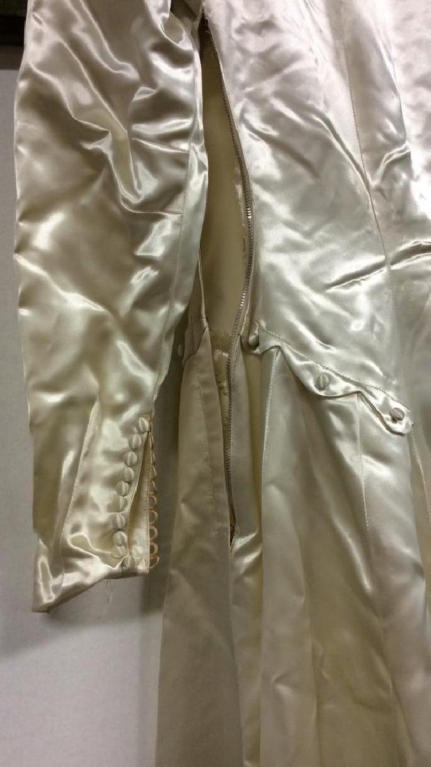 SAKS FIFTH AVENUE Vintage Satin Wedding Dress - 9