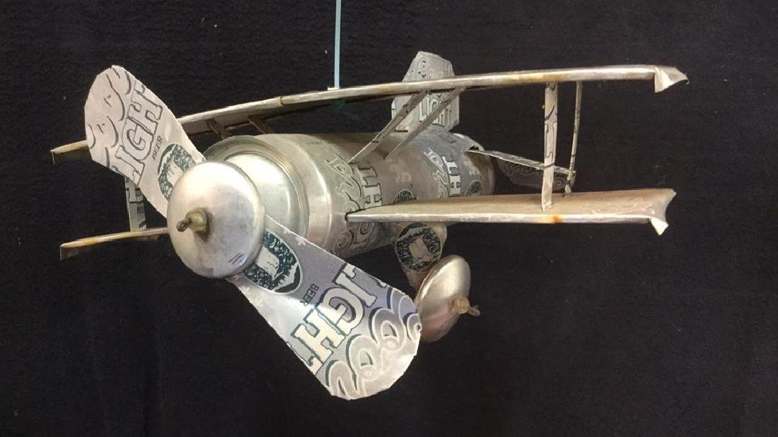 Coors Light Can Hanging Plane Sculpture - 2