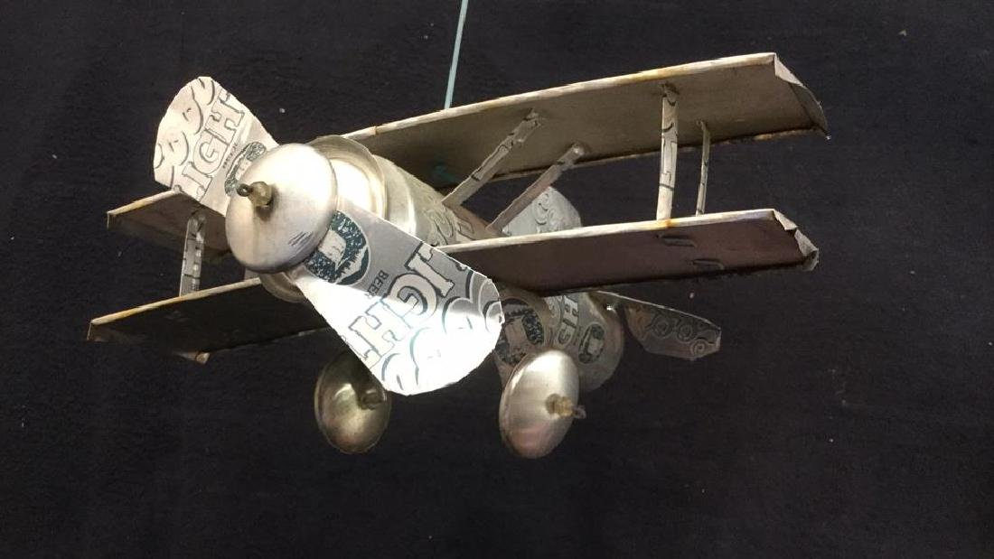 Coors Light Can Hanging Plane Sculpture - 3