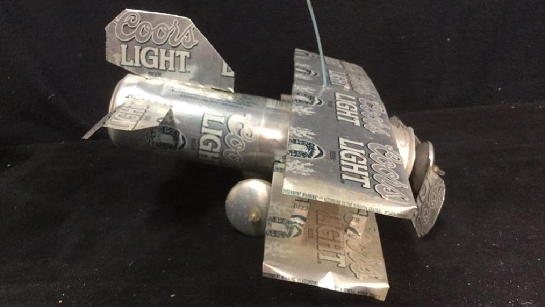 Coors Light Can Hanging Plane Sculpture - 5