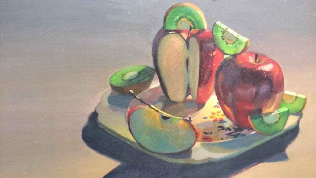ROBIN SMITH Still Life Painting of Fruit On Canvas - 2
