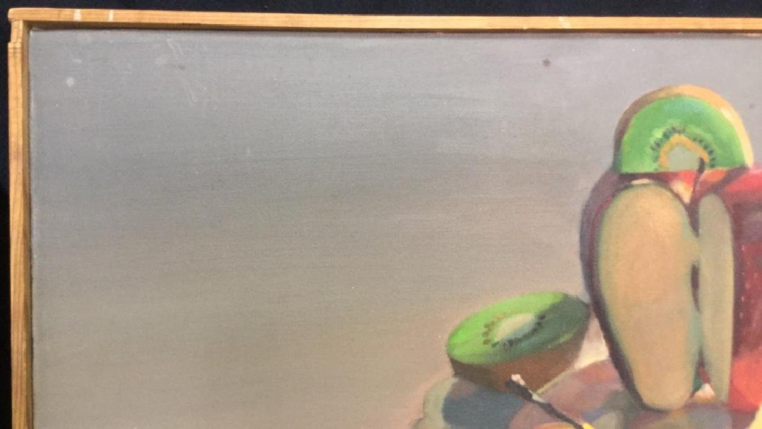 ROBIN SMITH Still Life Painting of Fruit On Canvas - 3