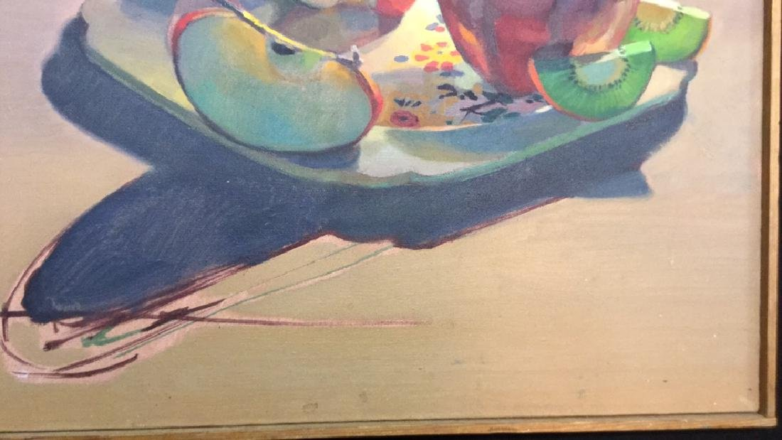 ROBIN SMITH Still Life Painting of Fruit On Canvas - 5