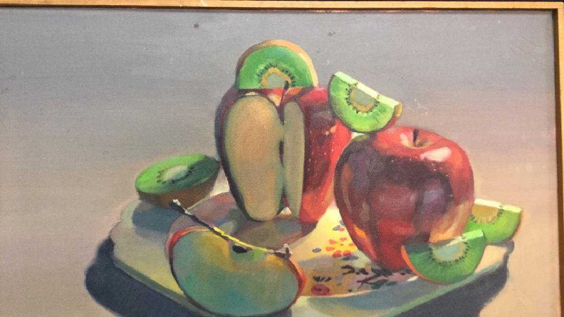 ROBIN SMITH Still Life Painting of Fruit On Canvas - 6