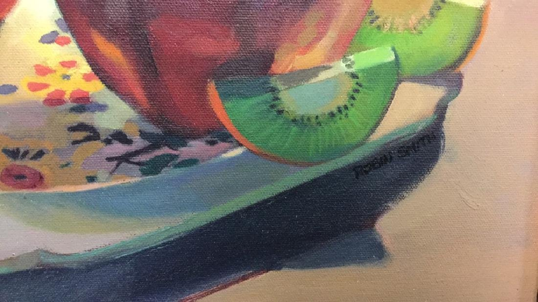 ROBIN SMITH Still Life Painting of Fruit On Canvas - 7